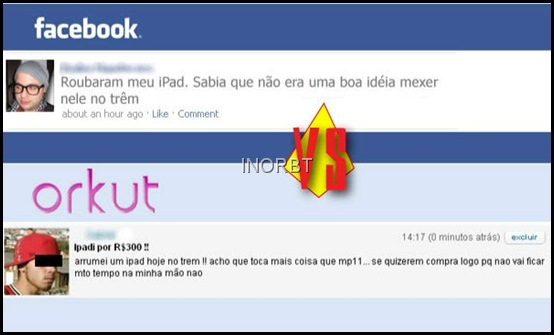 orkut X facebook